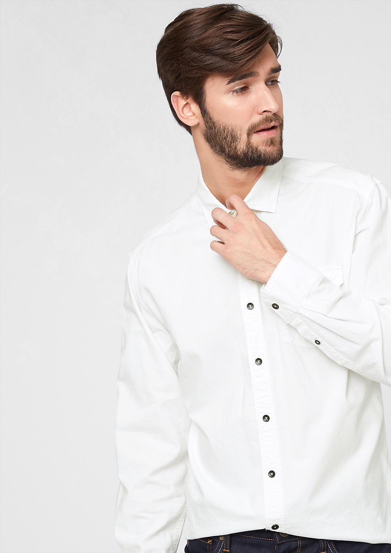 s.Oliver pánská košile 13.511.21.8981/0200 Bílá M
