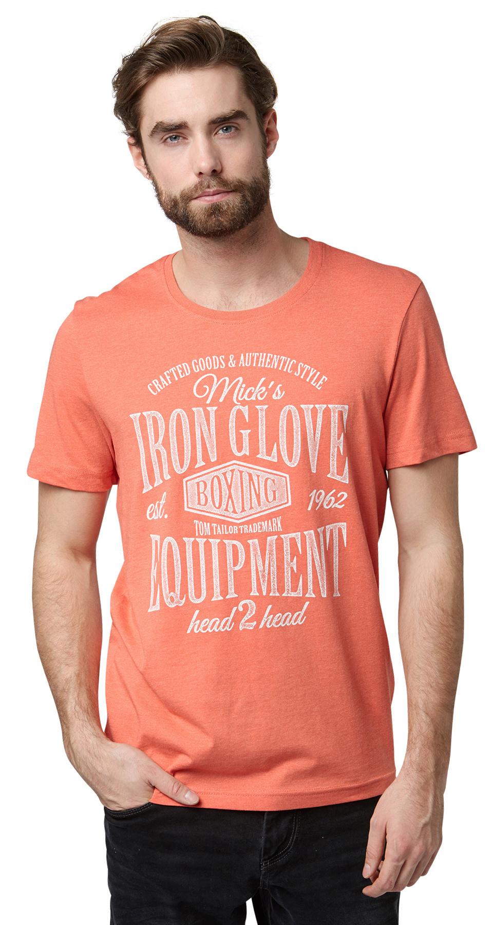 Tom Tailor pánské triko 10336010010/3510 Oranžová XXL