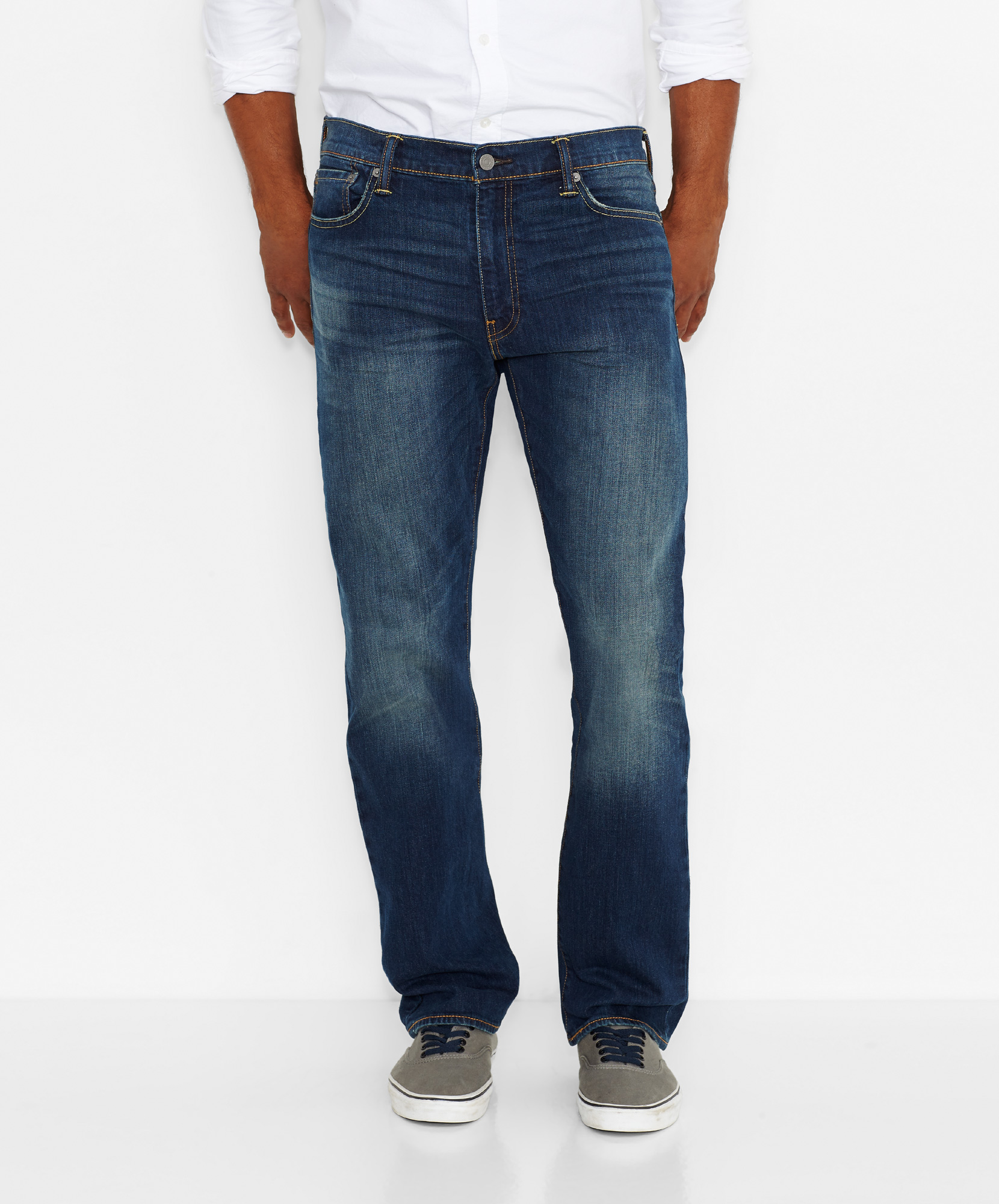 Levi´s pánské kalhoty 504™ Regular Straight Jeans 29990-0145 Modrá W33/L32