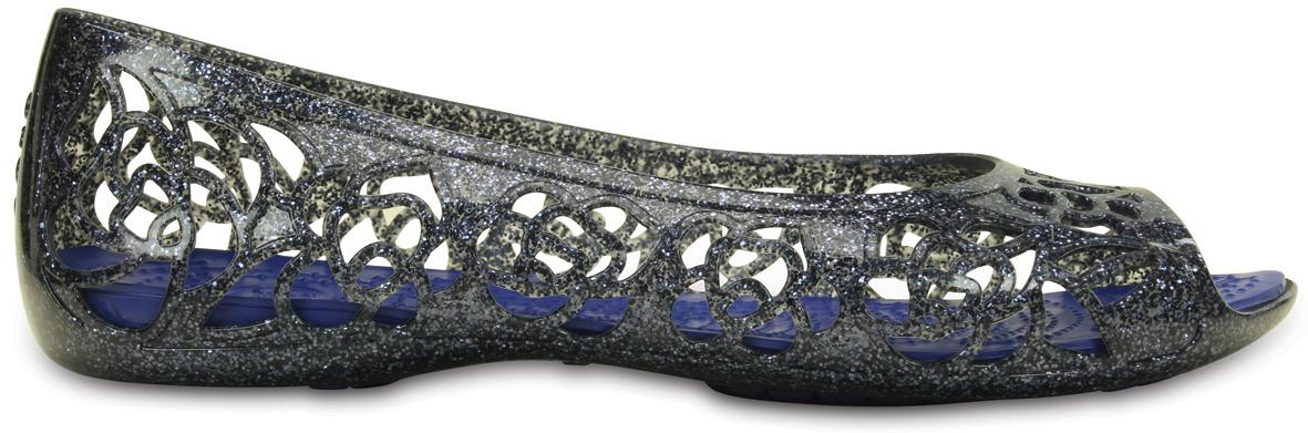 Crocs Isabella Glitter Flat GS Navy/Cerulean Blue Modrá 36-37