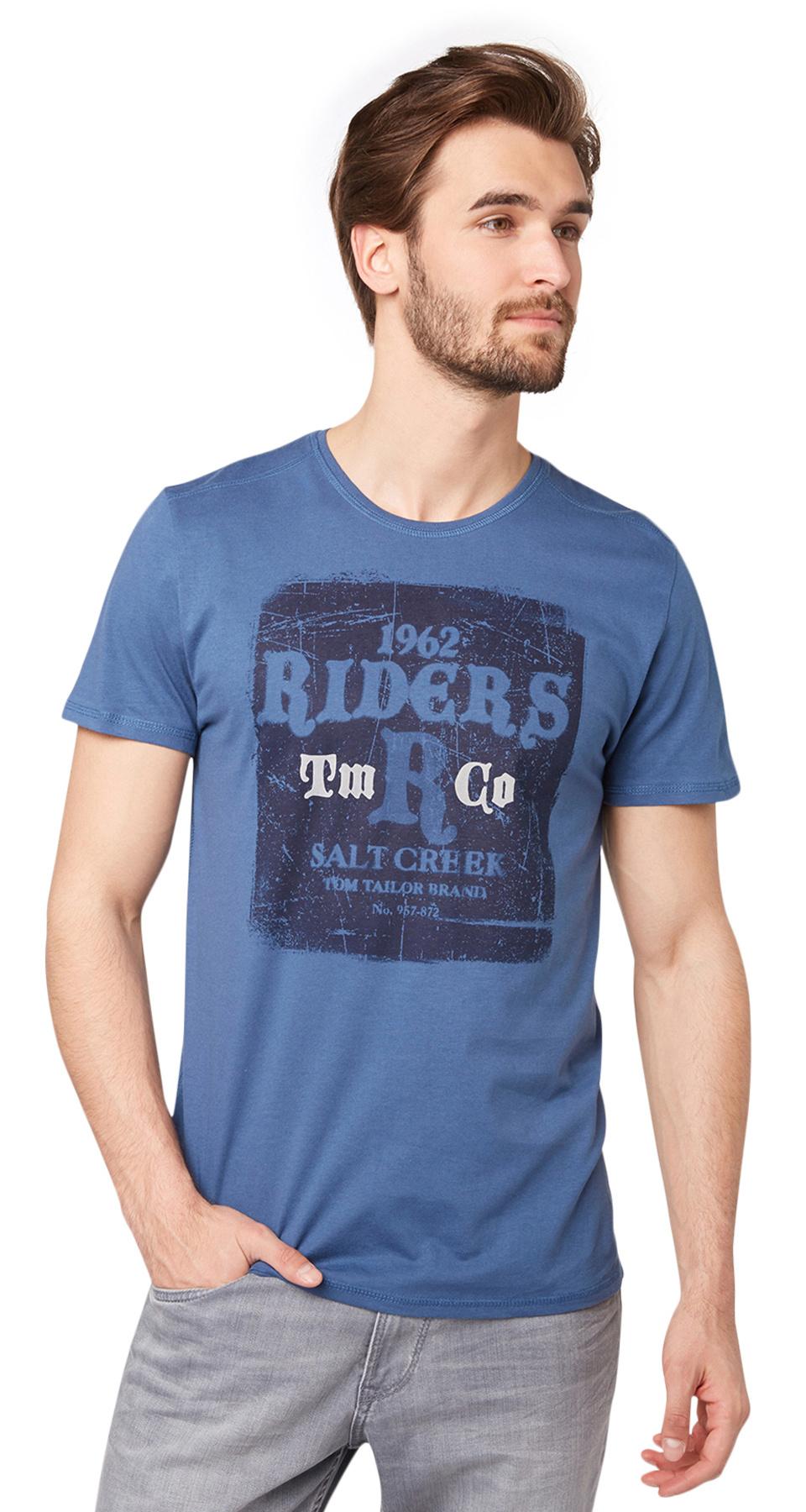 Tom Tailor pánské triko 10346450010/6865 Modrá XL