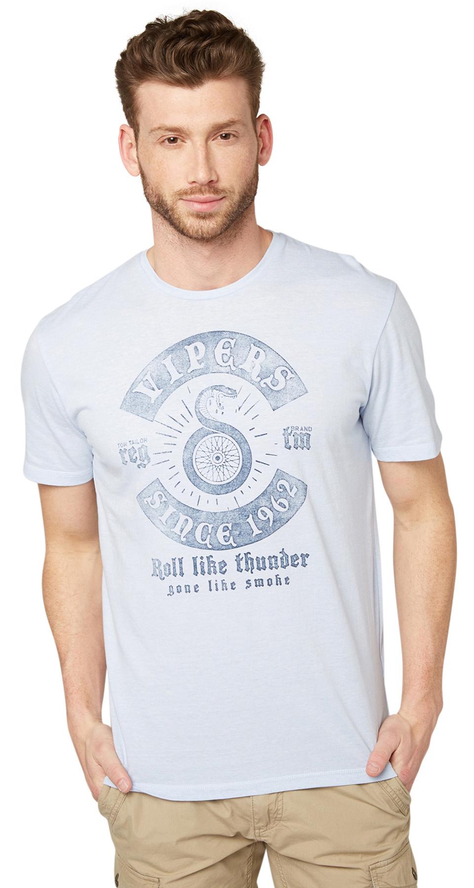 Tom Tailor pánské triko 10345940010/6851 Modrá M