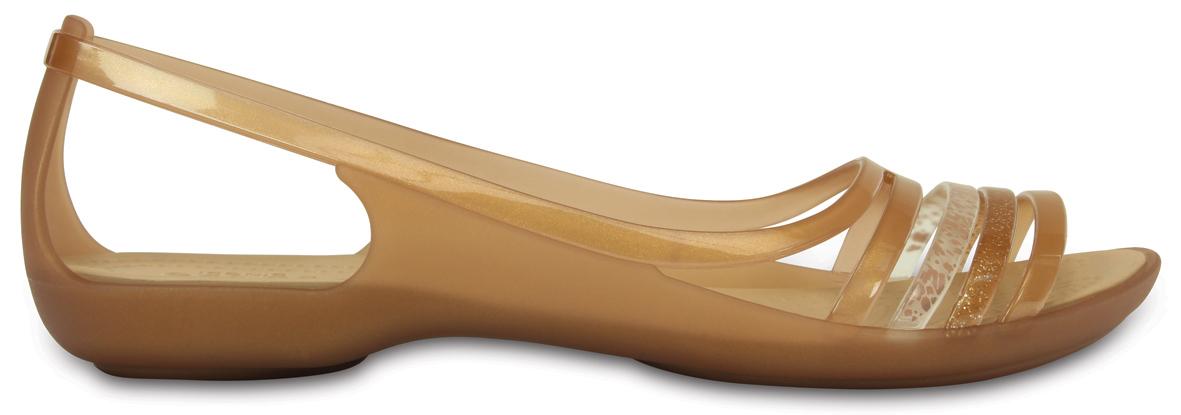 Crocs Isabella Huarache Flat Bronze Hnědá 37-38