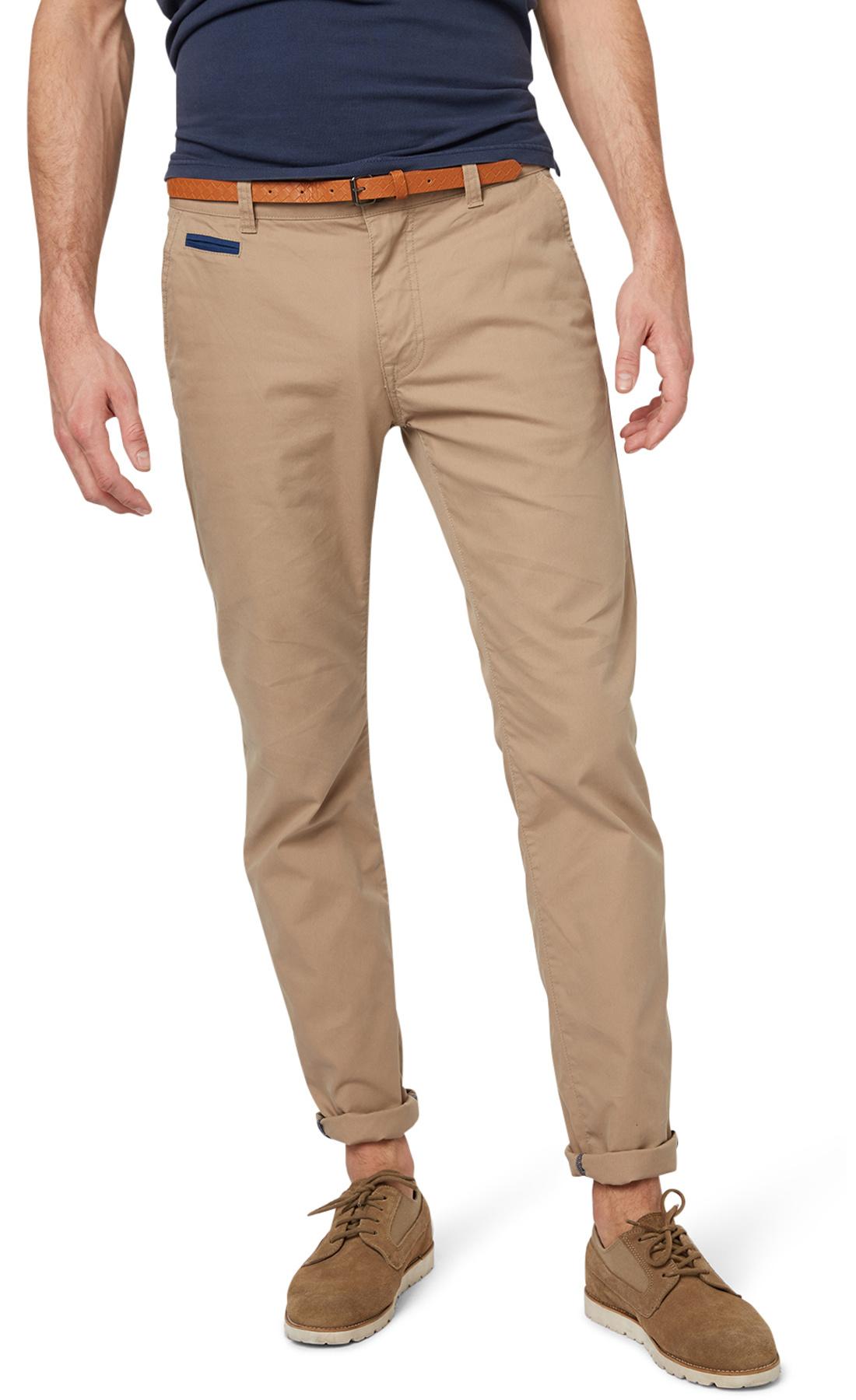 Tom Tailor pánské Chino kalhoty 64041270010/8493 Hnědá W34/L32