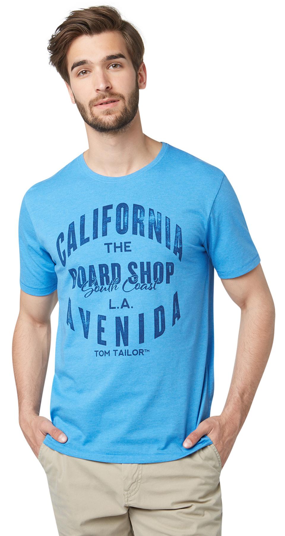 Tom Tailor pánské triko 10347880010/6673 Modrá XXL