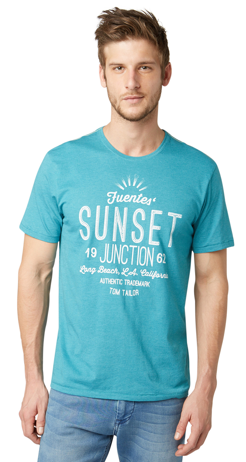 Tom Tailor pánské triko 10347880010/6881 Modrá XXXL