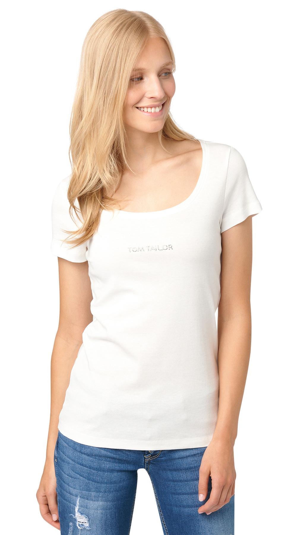 Tom Tailor dámské triko 10348770070/8210 Bílá XL