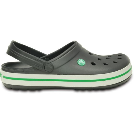 Crocs Crocband Graphite/Grass Green Šedá 39-40