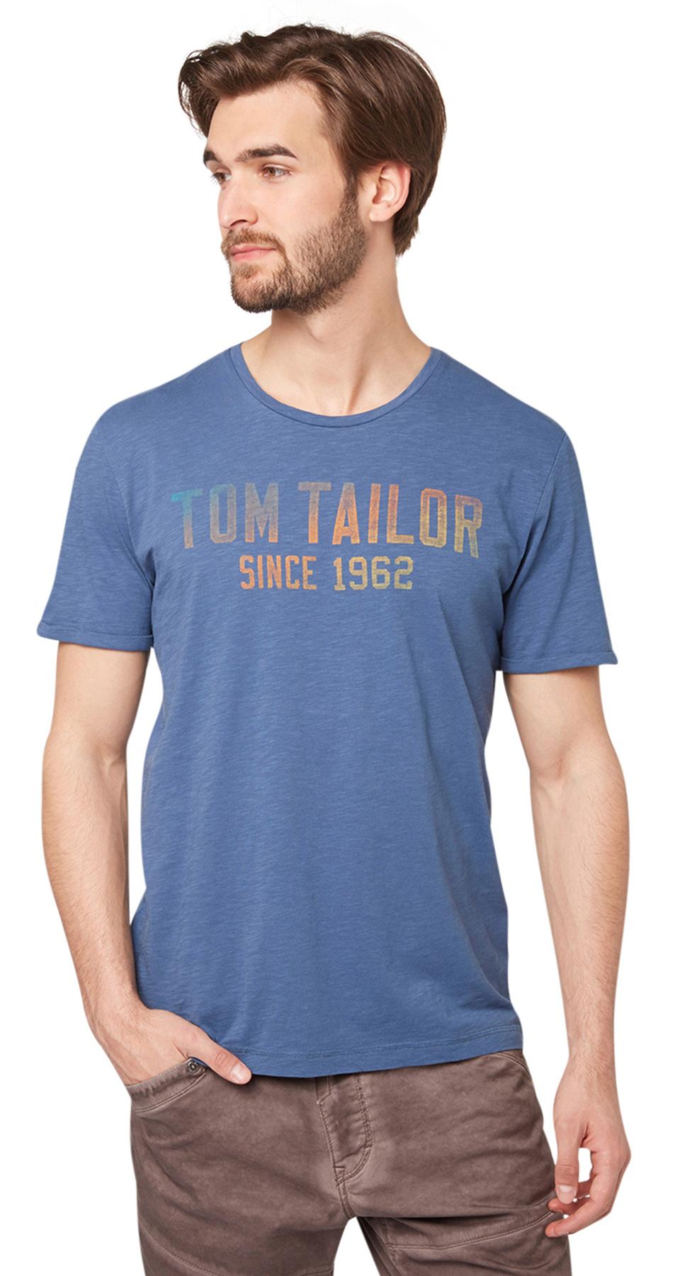 Tom Tailor pánské triko 10350006210/6865 Modrá XL