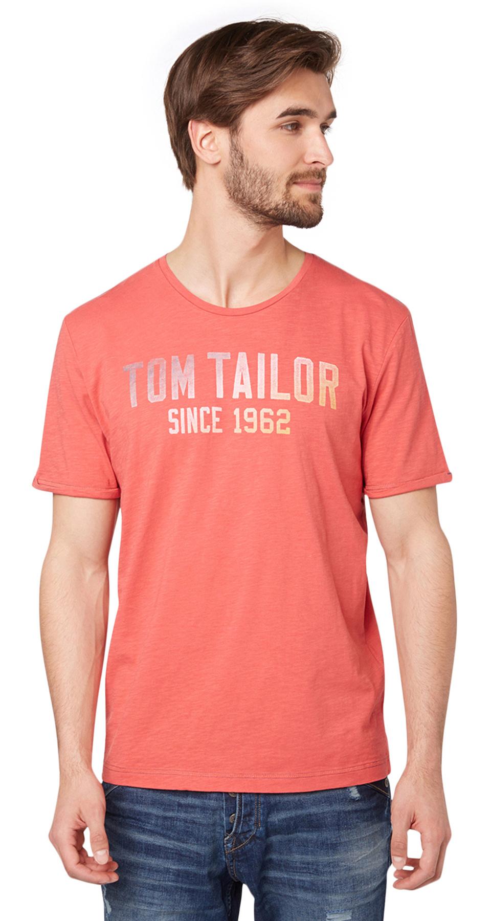 Tom Tailor pánské triko 10350006210/4502 Červená XL