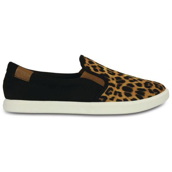 Crocs CitiLane Slip-on Sneaker Leopard/Black Černá 38-39