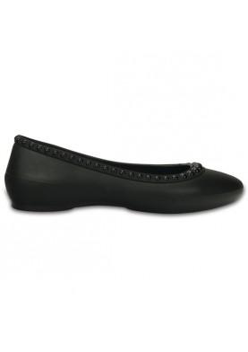 Crocs Lina Luxe Flat Black