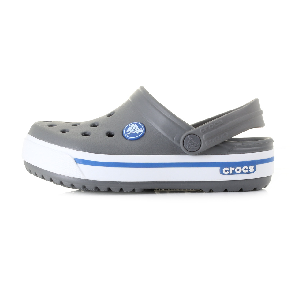 Crocs Crocband II.5 Kids Charcoal/Sea Blue Šedá 27-28