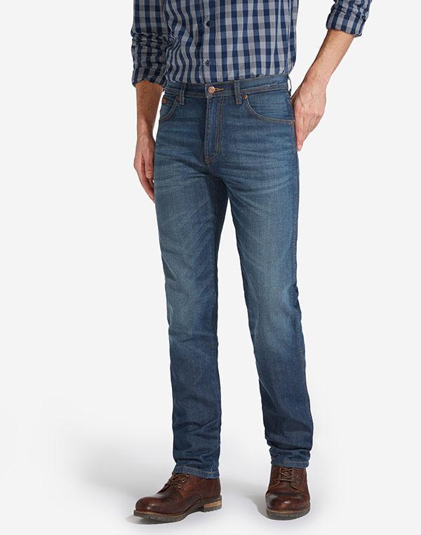 Wrangler pánské kalhoty (jeans) Arizona W12OZ884D Modrá W33/L32