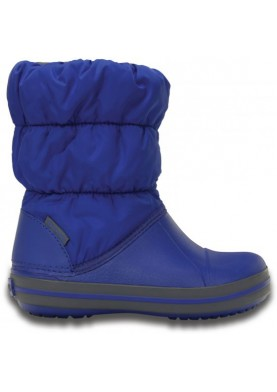 Crocs Winter Puff Boot Kids Cerulean Blue/Light Grey