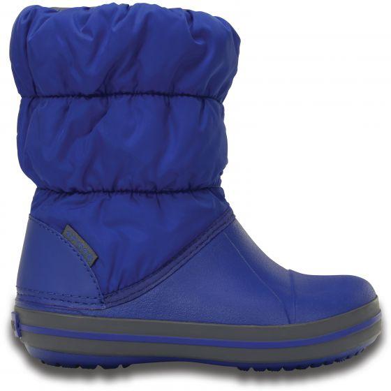 Crocs Winter Puff Boot Kids Cerulean Blue/Light Grey Modrá 29-30