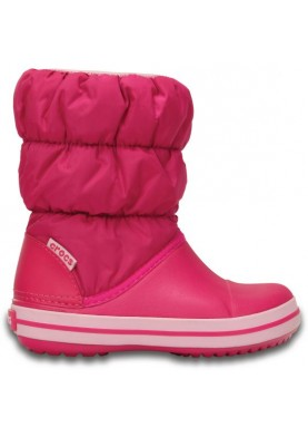 Crocs Winter Puff Boot Kids Candy Pink