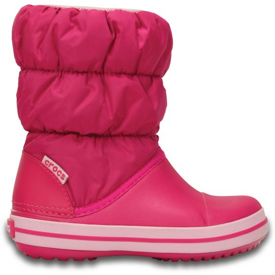 Crocs Winter Puff Boot Kids Candy Pink Růžová 34-35