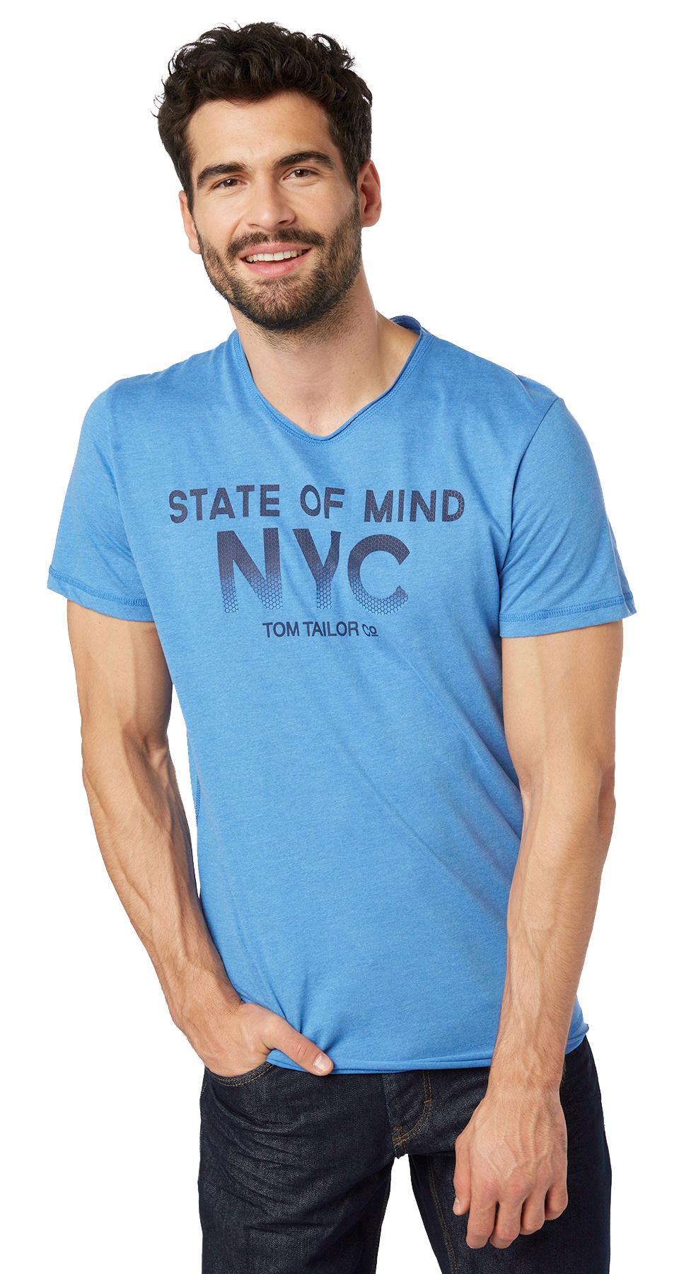 tom Tailor pánské triko 10363670010/6930 Modrá XXL