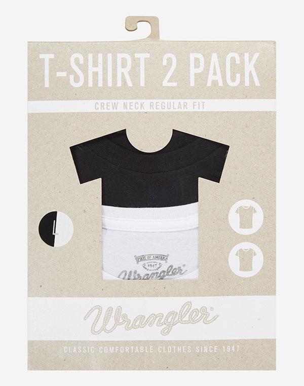 Wrangler pánské trika 2 pack W7881FQ01 Černá M