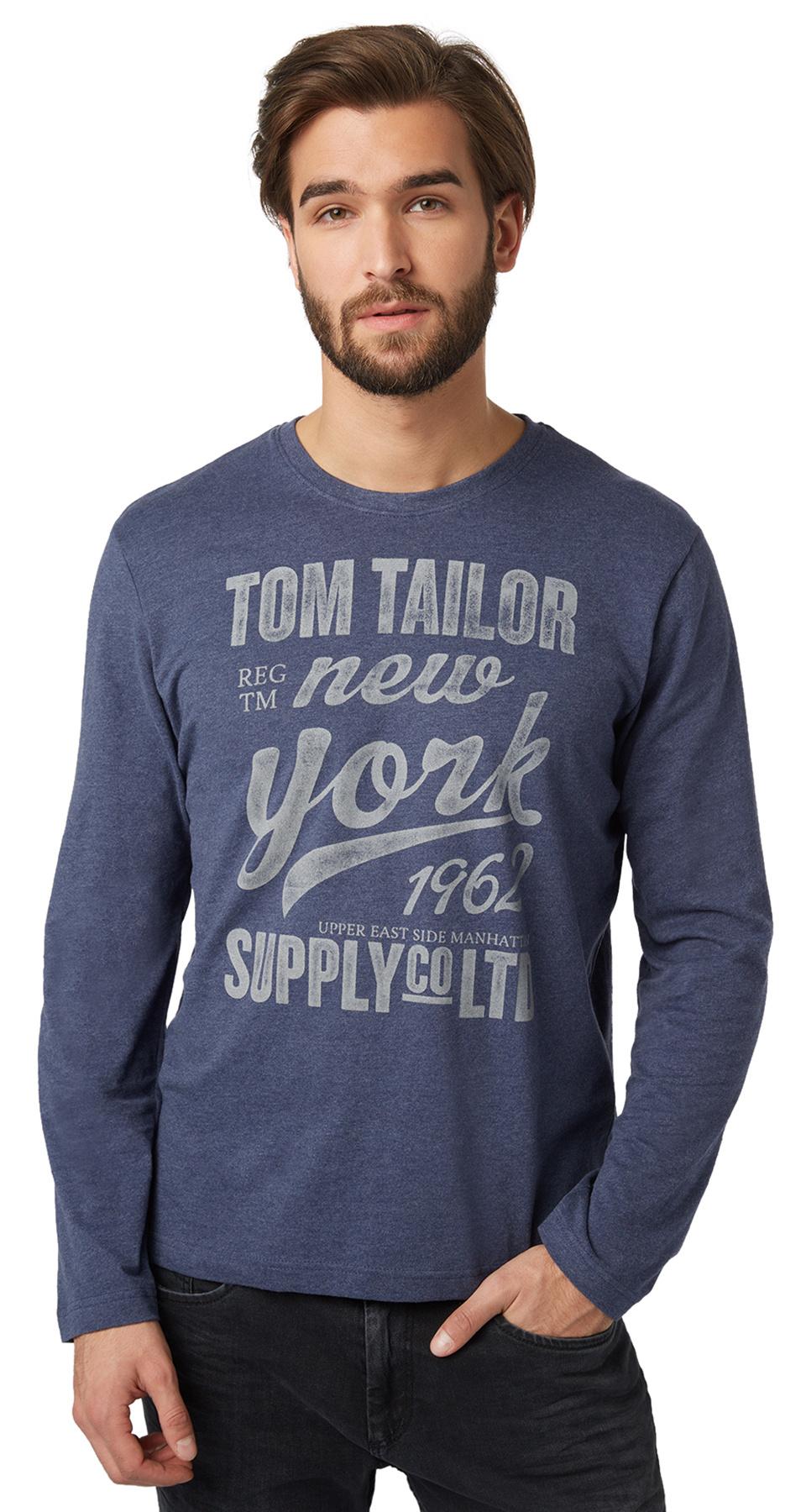 Tom Tailor pánské triko 10363690010/6811 Modrá M