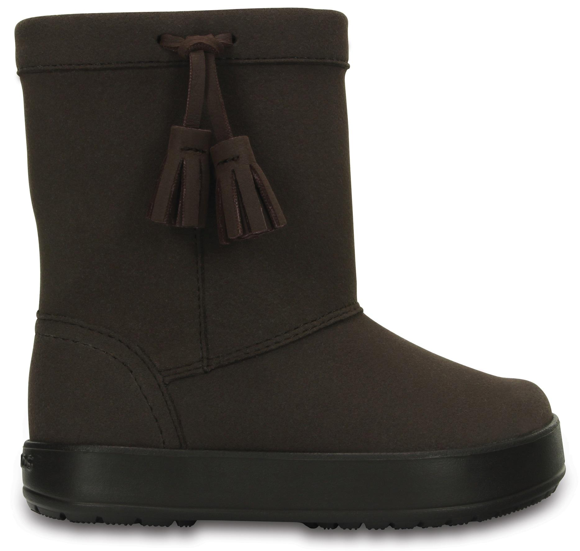 Crocs Lodgepoint boot Kids Espresso Hnědá 29-30