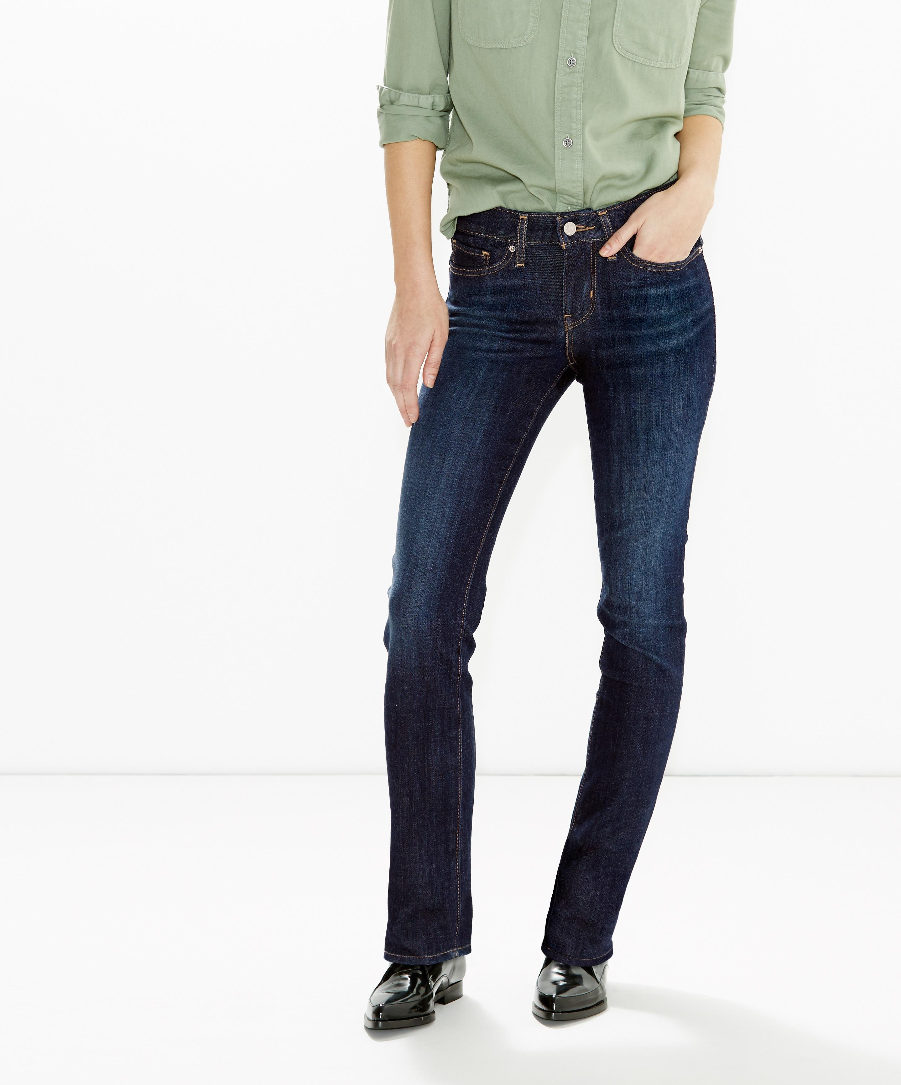 Levi´s dámské džíny 714 Straight 21834-0006 Modrá W33/L32
