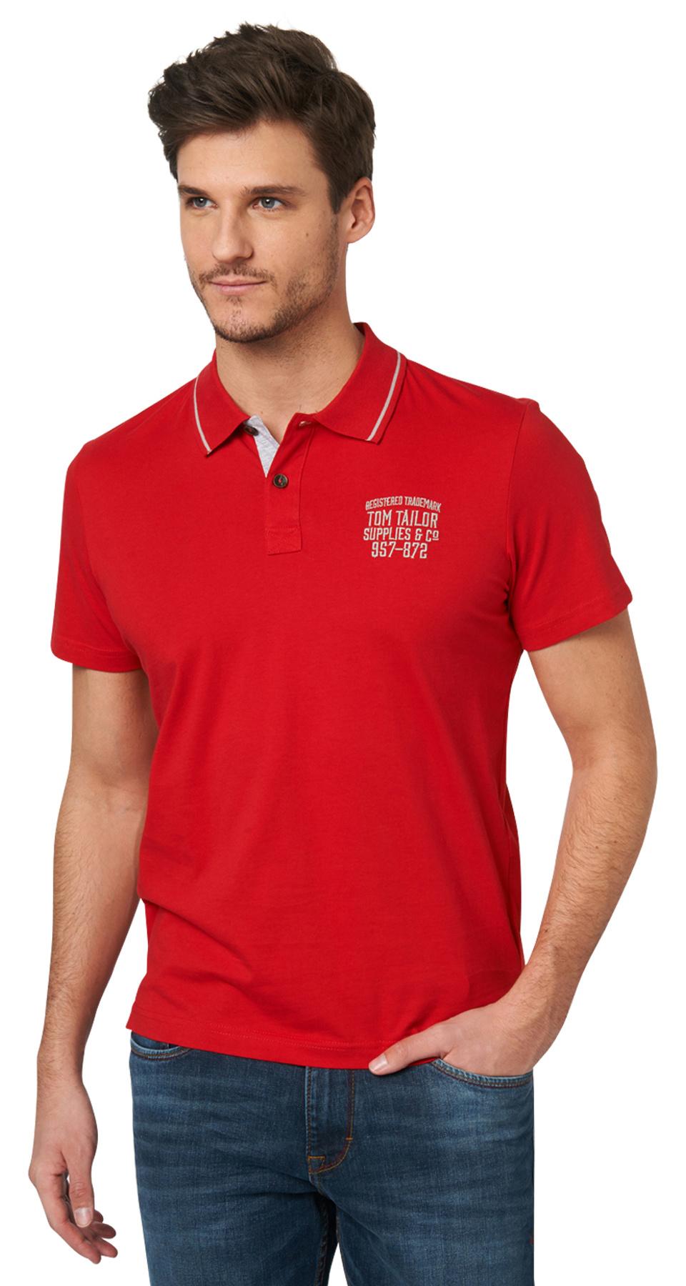 Tom Tailor pánské polo triko 15310370010/4534 Červená XL