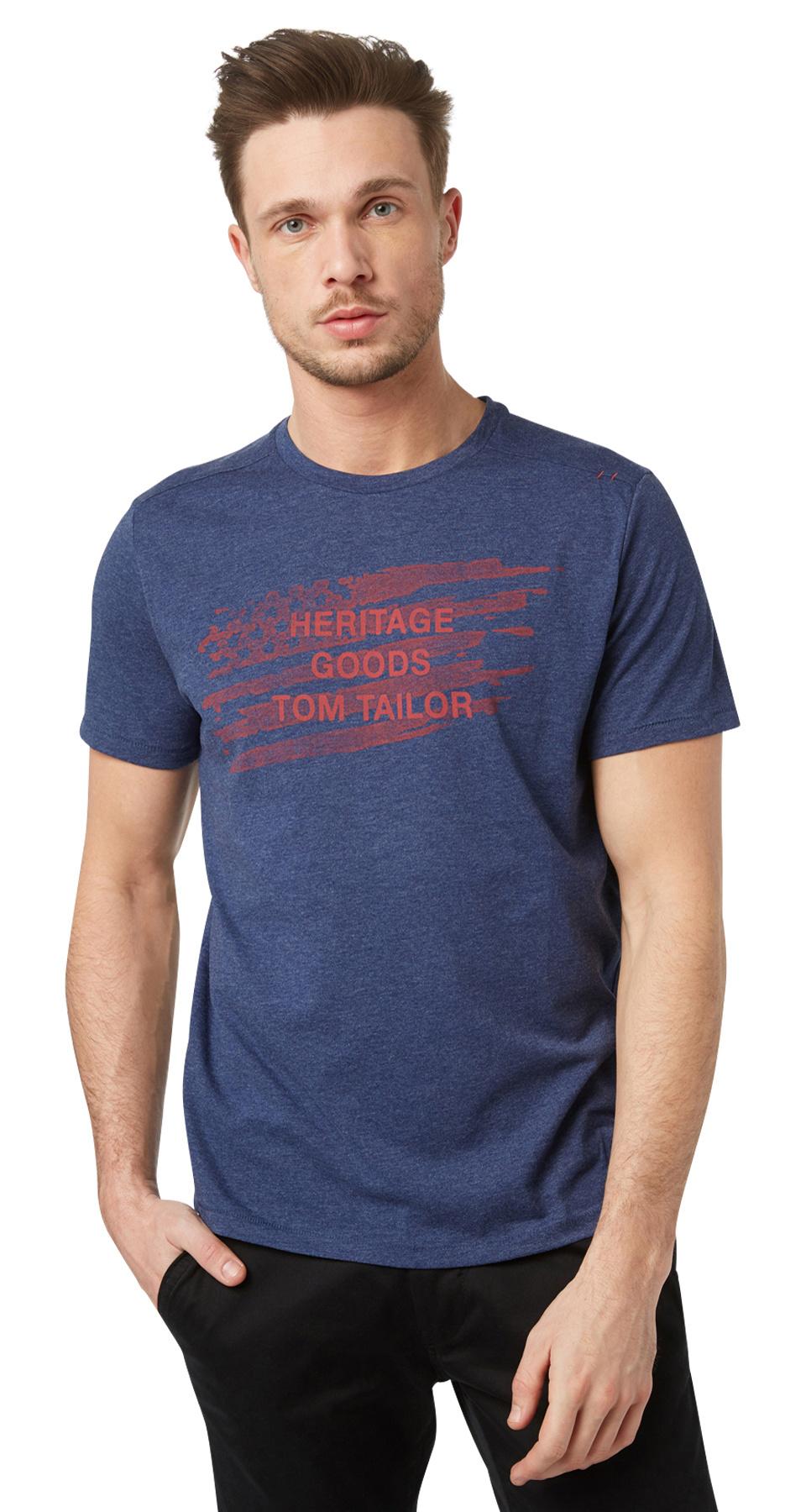 Tom Tailor pánské triko 10372040010/6814 Modrá XXL