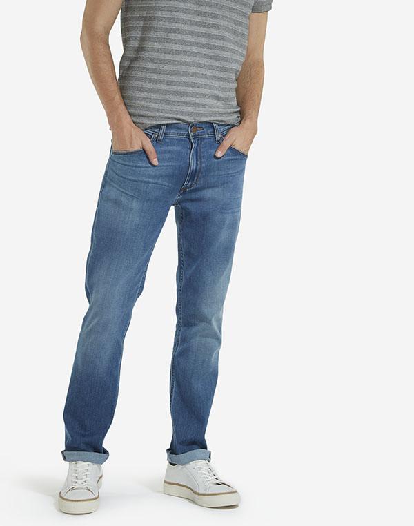 Wrangler pánské kalhoty (jeans) Greensboro W15QMU91Q Modrá W33/L32