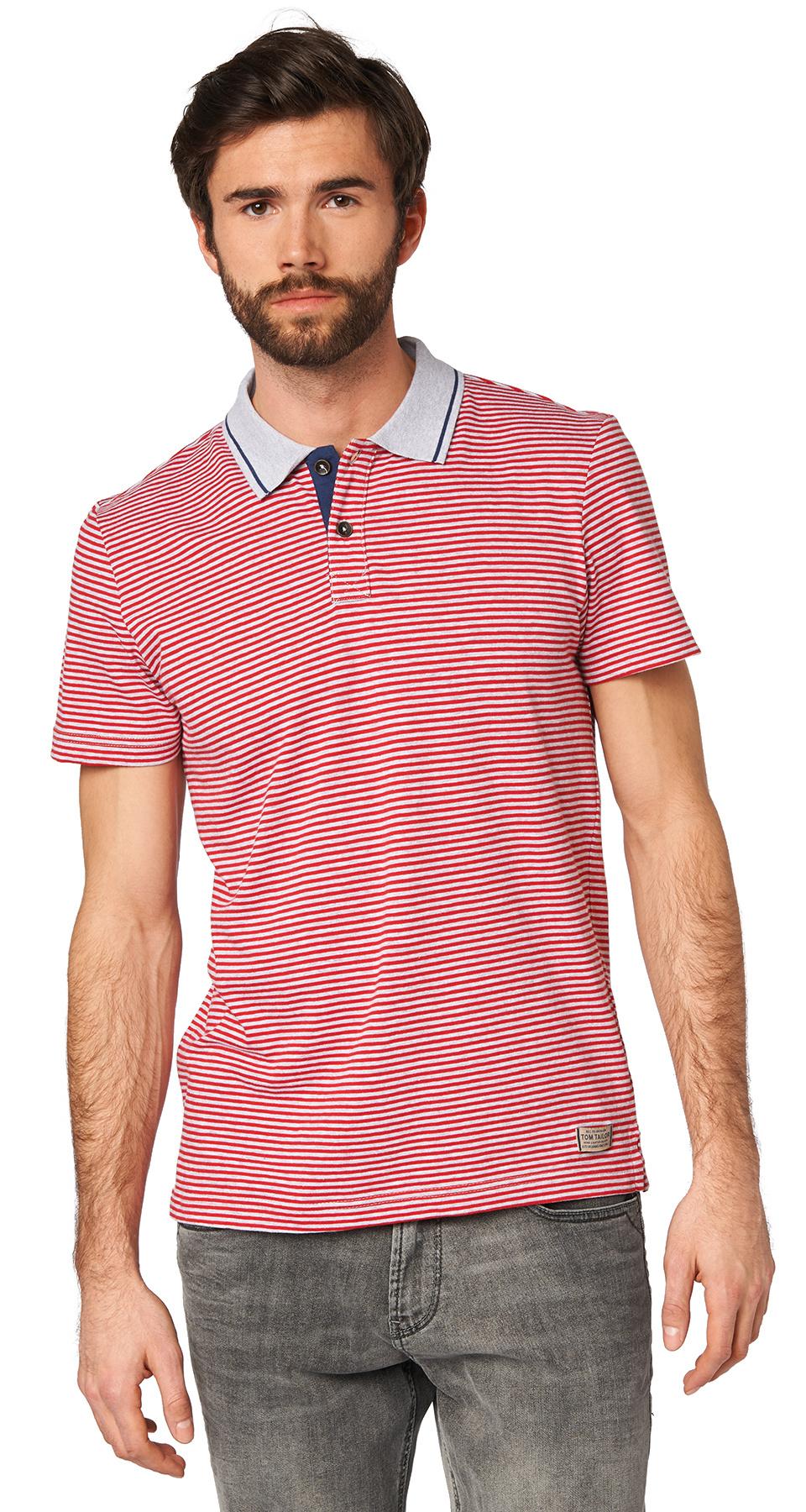Tom Tailor pánské polo triko 15310380010/2220 Červená XL