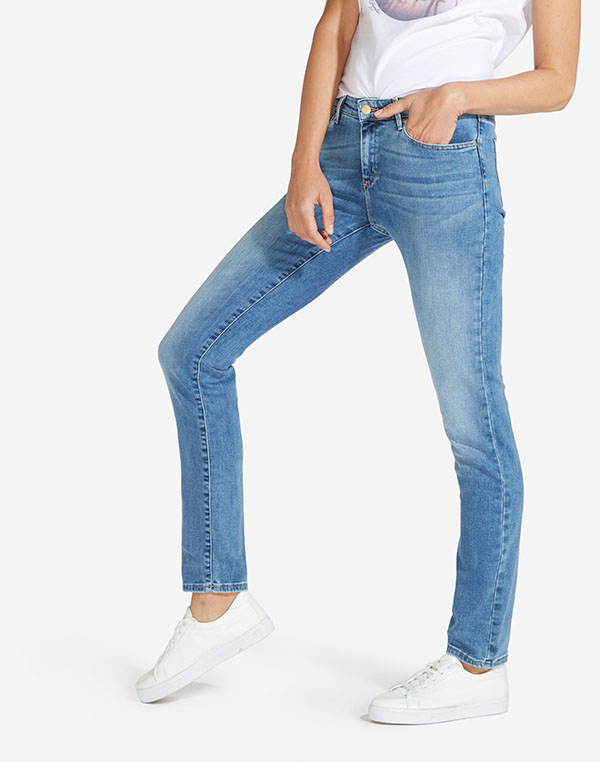 Wrangler dámské kalhoty (jeans) Slim W28LX794O Modrá W29/L30
