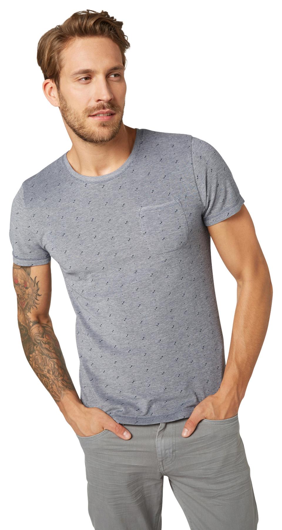 Tom Tailor pánské triko 10375306210/6740 Modrá XL