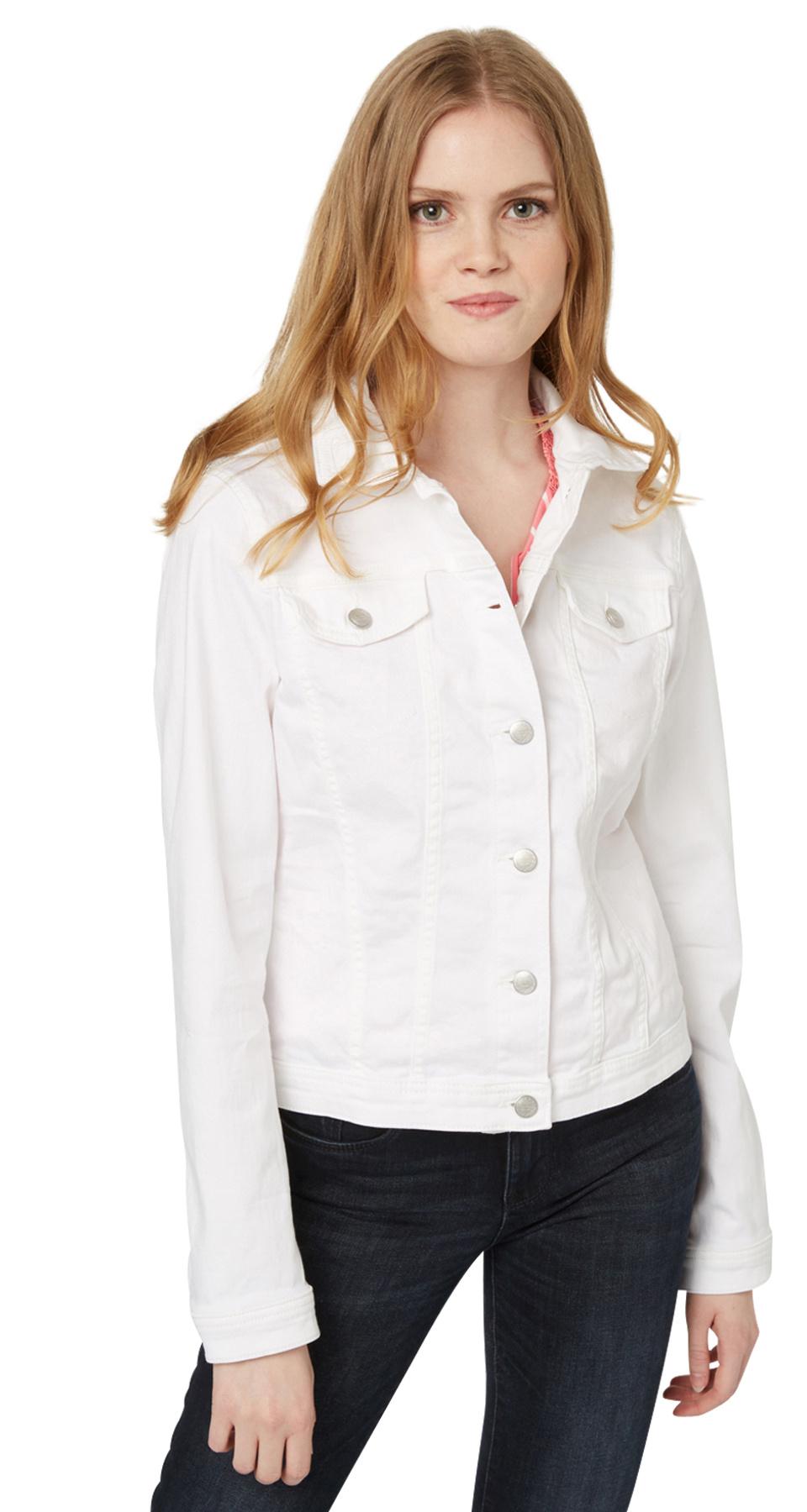 Tom Tailor dámská džínová bunda 35332840070/2000 Bílá XL