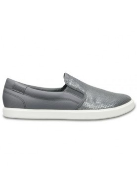 Crocs CitiLane Sequin Slip-on Silver