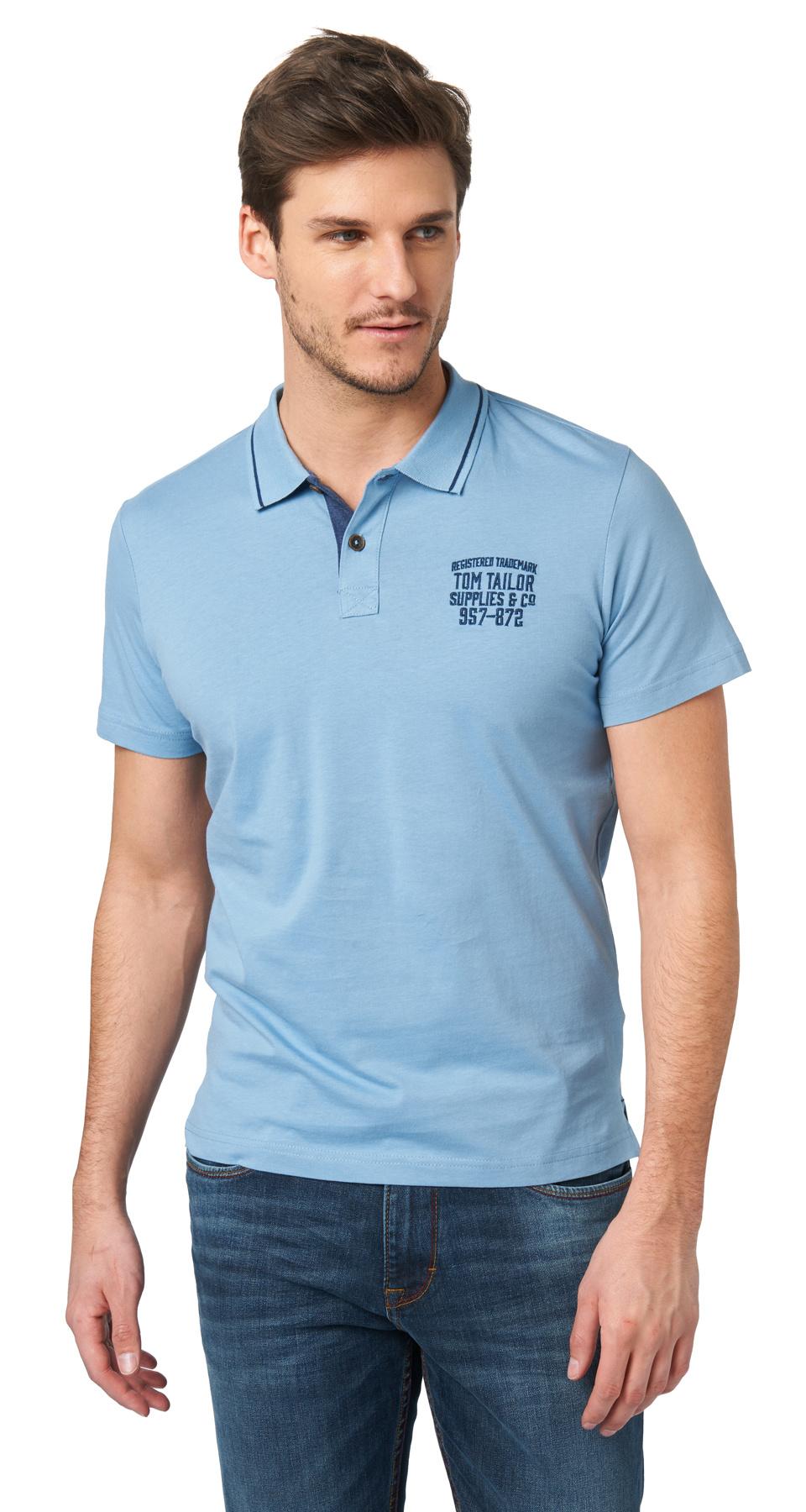 19225021f23 Tom Tailor pánské polo triko 15310370010 6876 Modrá M