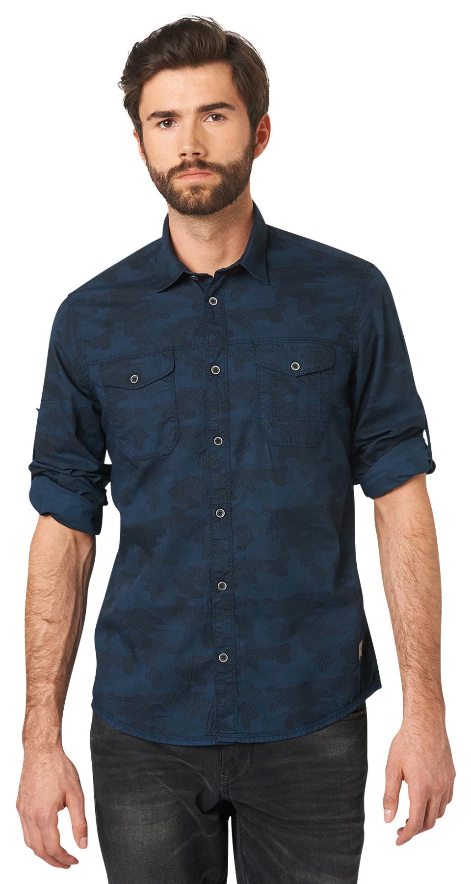 Tom Tailor pánská košile 20332180110/6740 Modrá XXL