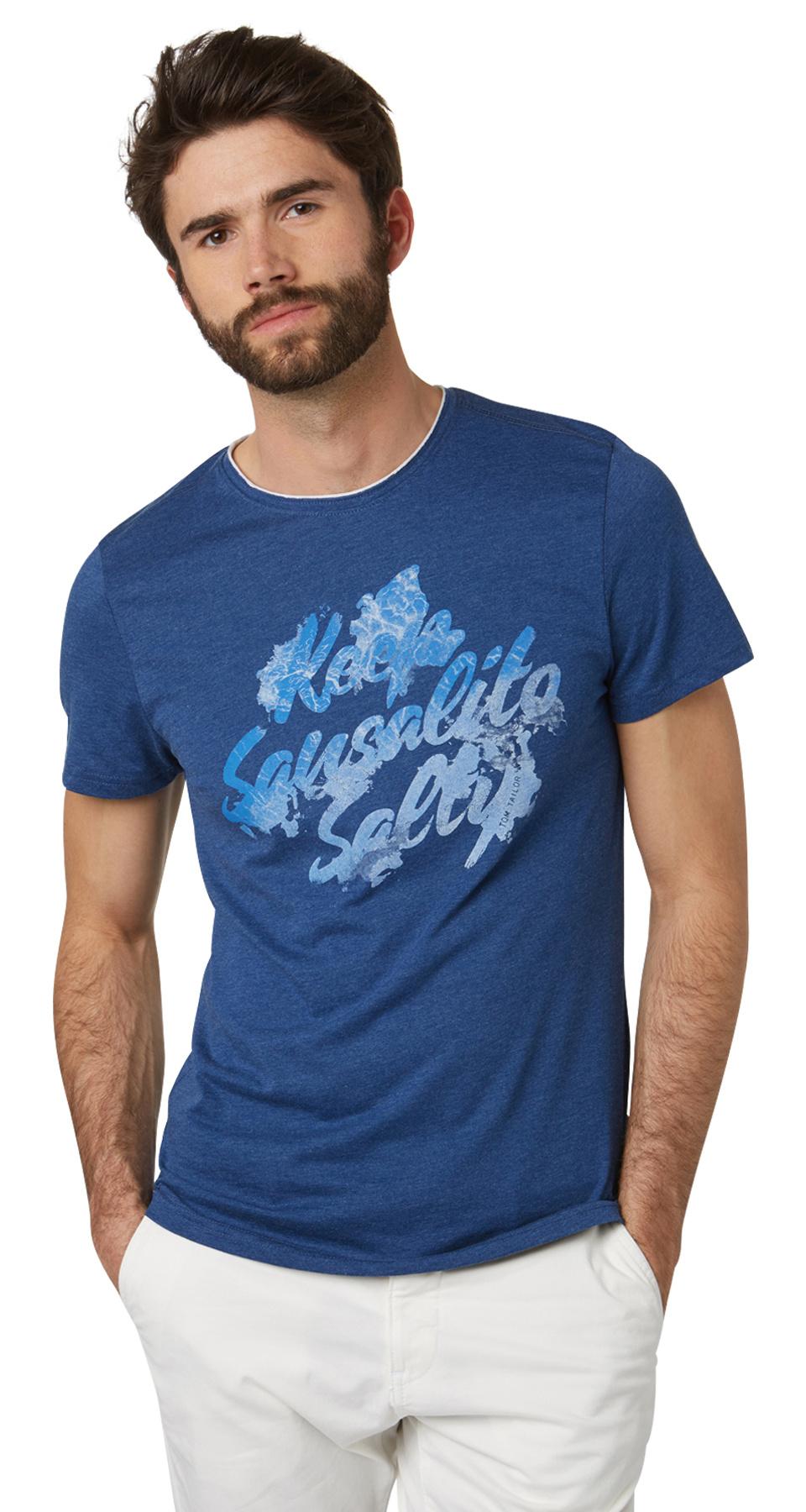 Tom Tailor pánské triko 10377050010/6621 Modrá XXL