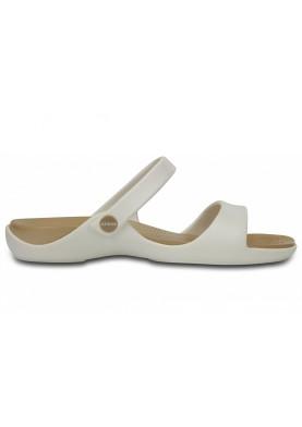 Crocs Cleo V Sandal Oyster/Gold