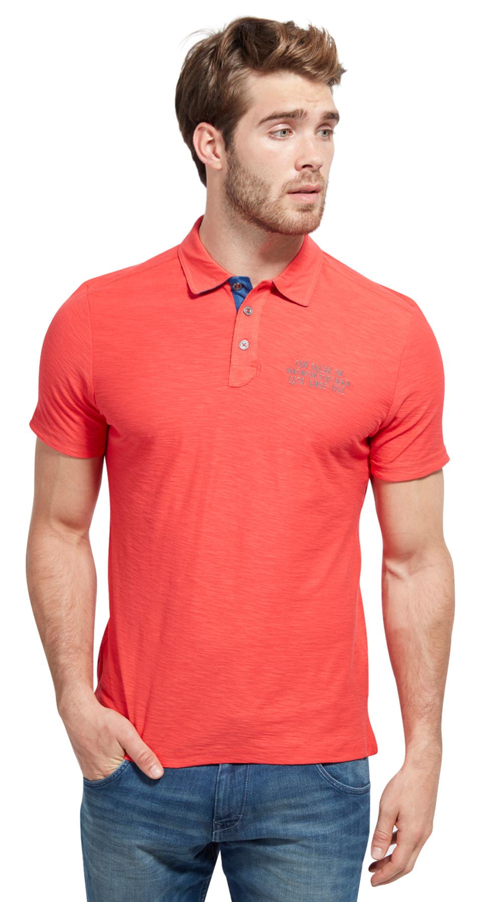 Tom Tailor pánské polo-triko 15311050010/4270 Červená XL