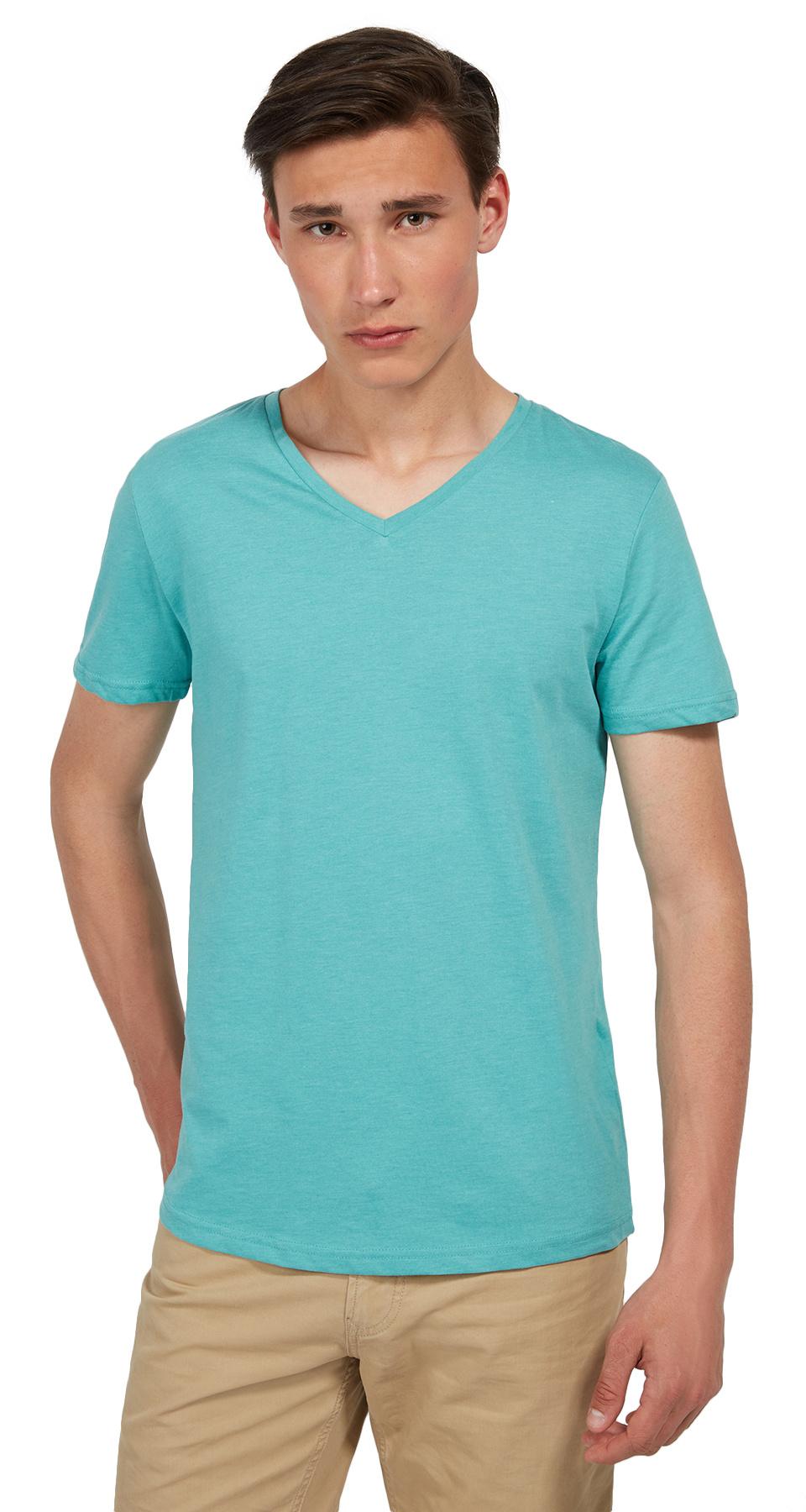 Tom Tailor Denim pánské triko 10381010012/7515 Zelená XL