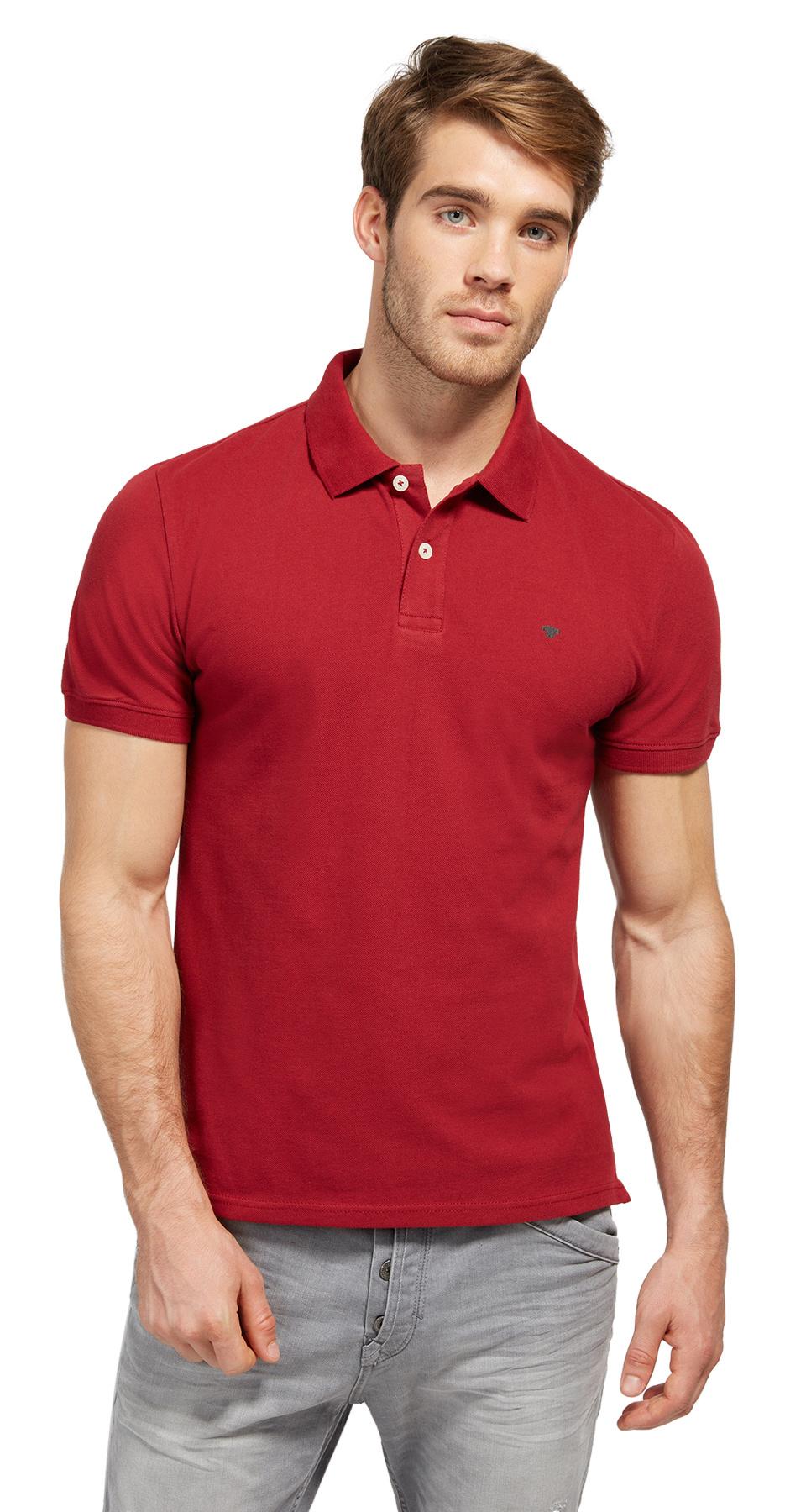 Tom Tailor pánské polo triko 15310070010/4454 Červená M