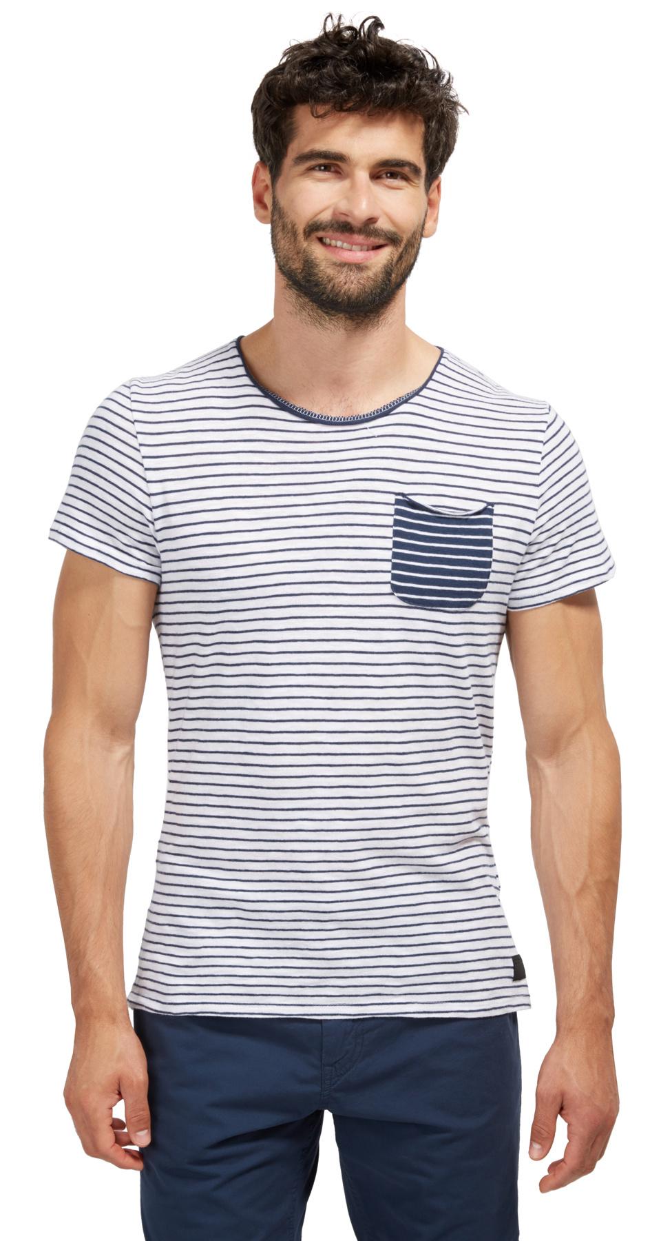 Tom Tailor pánské triko s kapsičkou 10382240010/2000 Bílá XXL