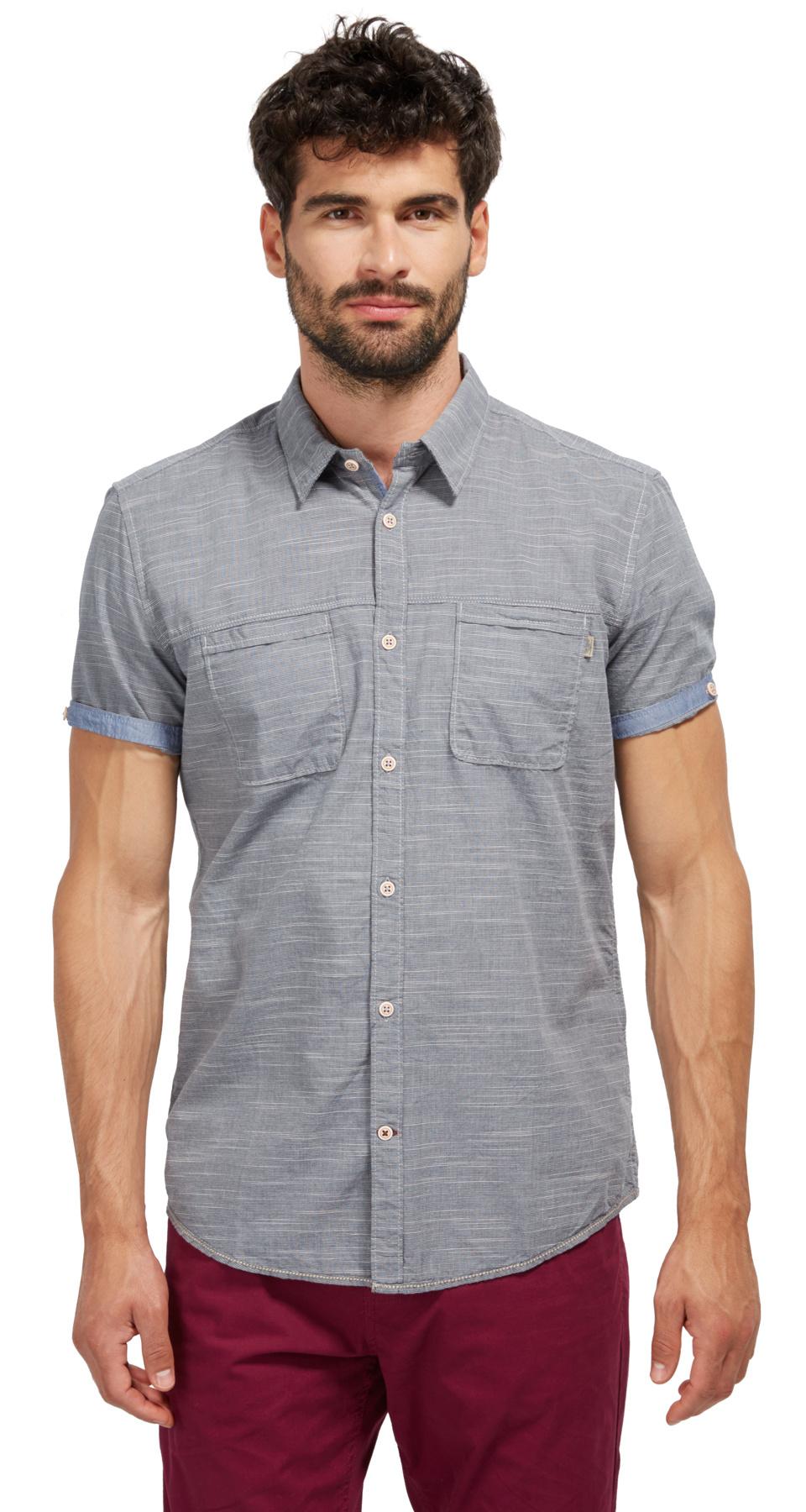 Tom Tailor košile s krátkým rukávem 20333780010/6740 Modrá XL