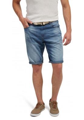 Tom Tailor džínové bermudy s opaskem