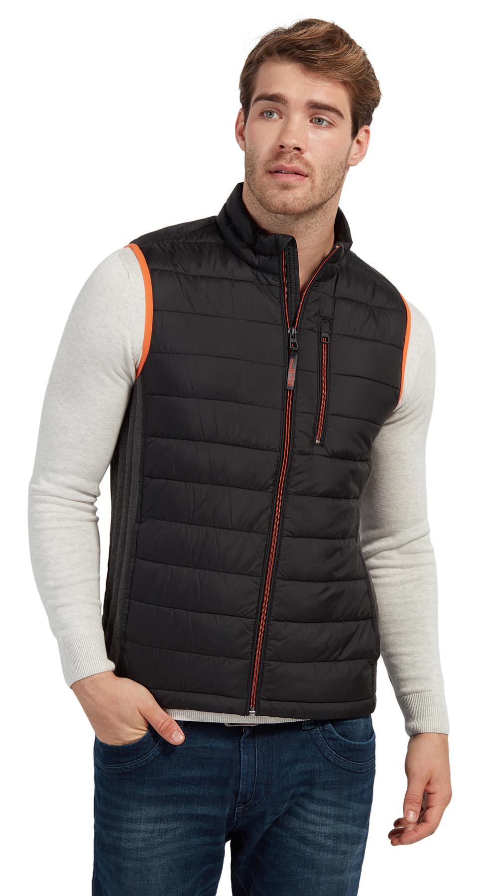 Tom Tailor lehká prošívaná vesta 35334670010/2999 Černá XL