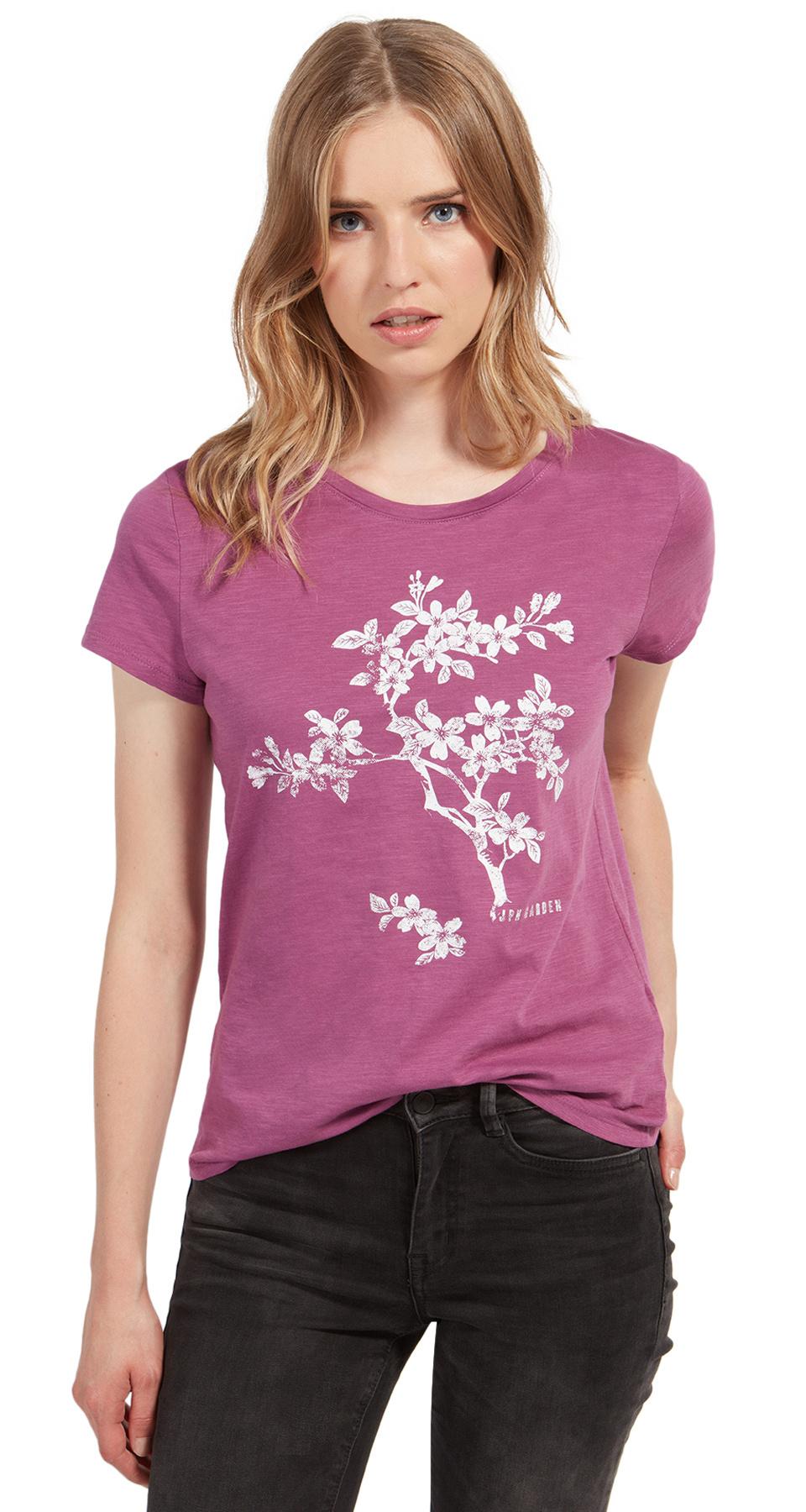 Tom Tailor tričko s květinovým potiskem 10550480071/5726 Fialová XL