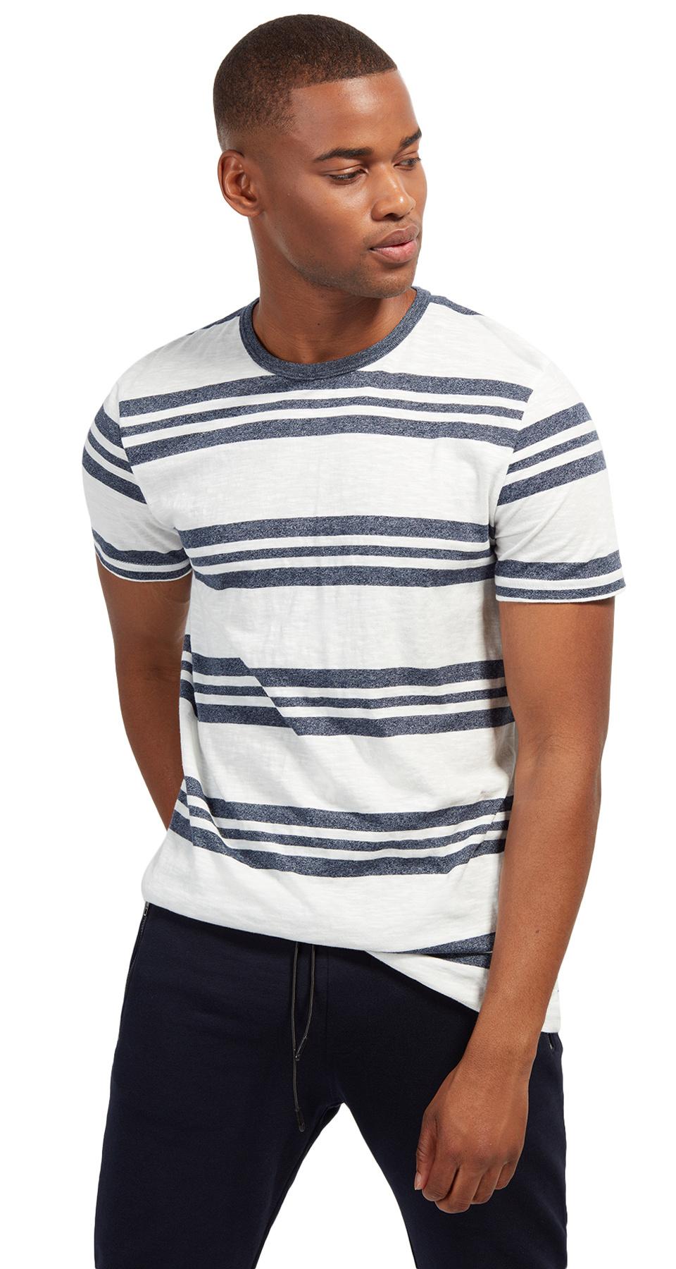 Tom Tailor triko s proužkem 10550940071/6740 Modrá XXL