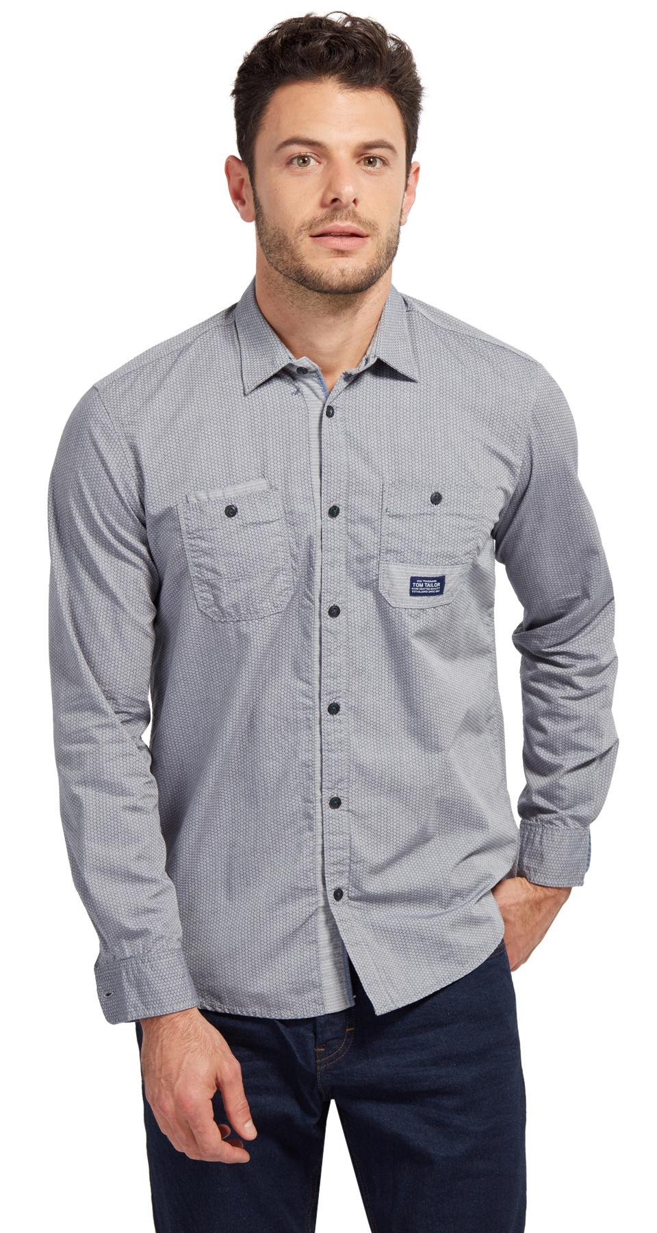 Tom Tailor pánská košile 20337290010/6811 Modrá XXL