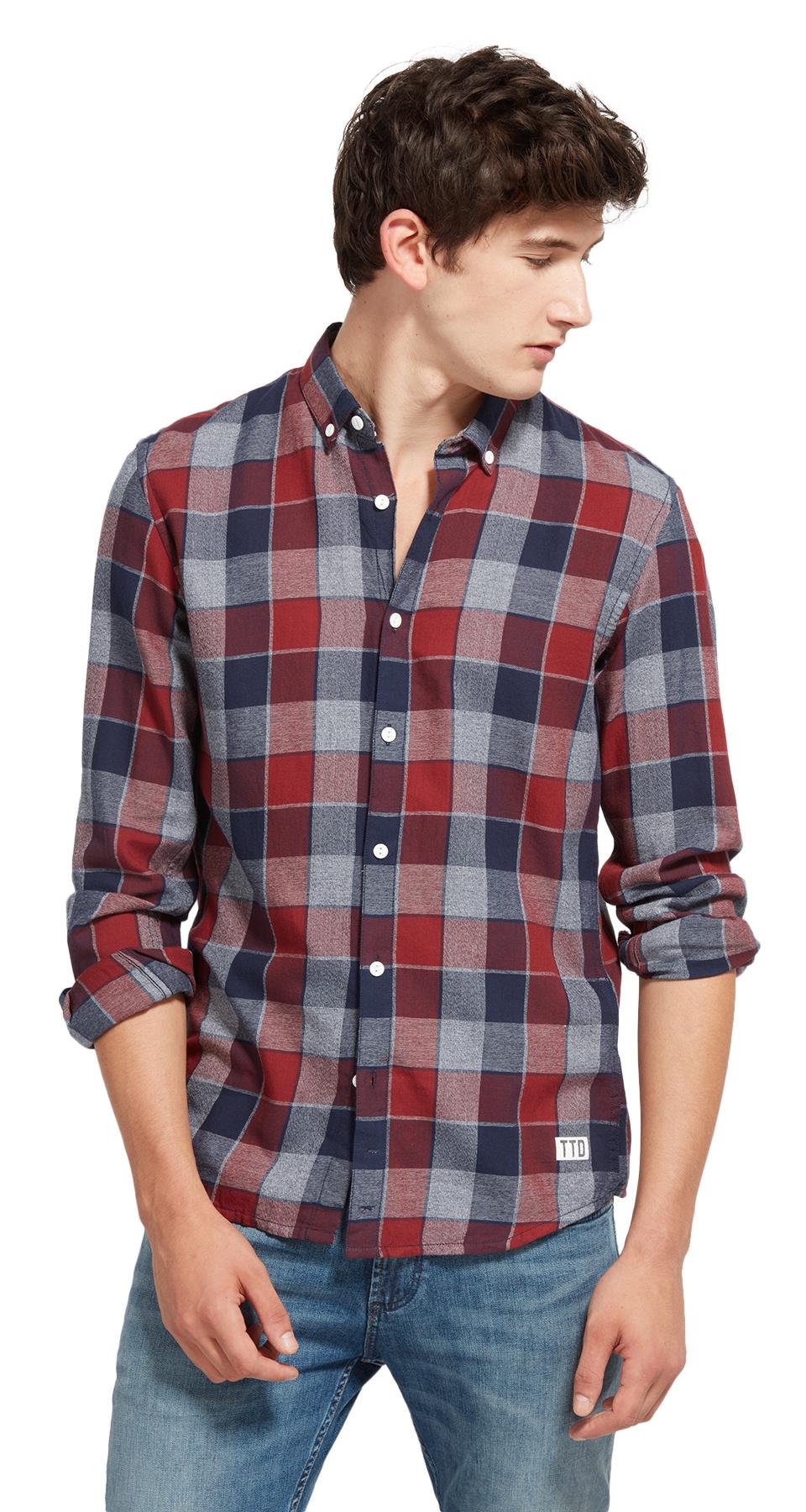 Tom Tailor pánská košile 2055038/1004 Modrá XL
